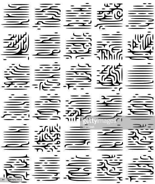 illustrations, cliparts, dessins animés et icônes de motif de calligraphie noir et blanc sans couture - hiéroglyphe
