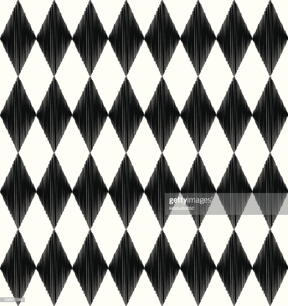 seamless black and white rhombus pattern