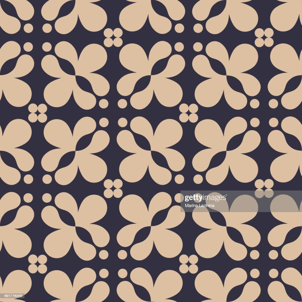 Seamless black and white vector geometric pattern. Vector illustration.