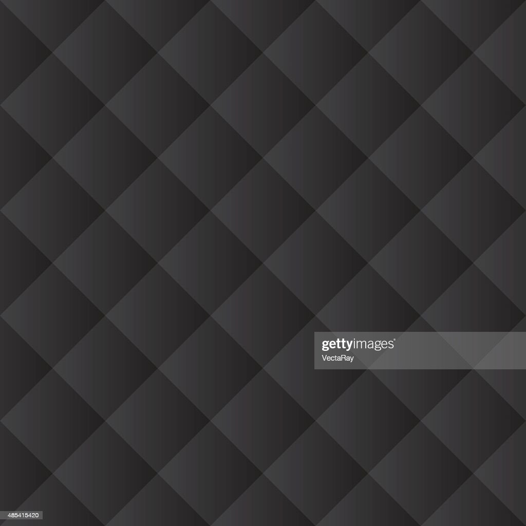 Seamless black padded upholstery pattern texture