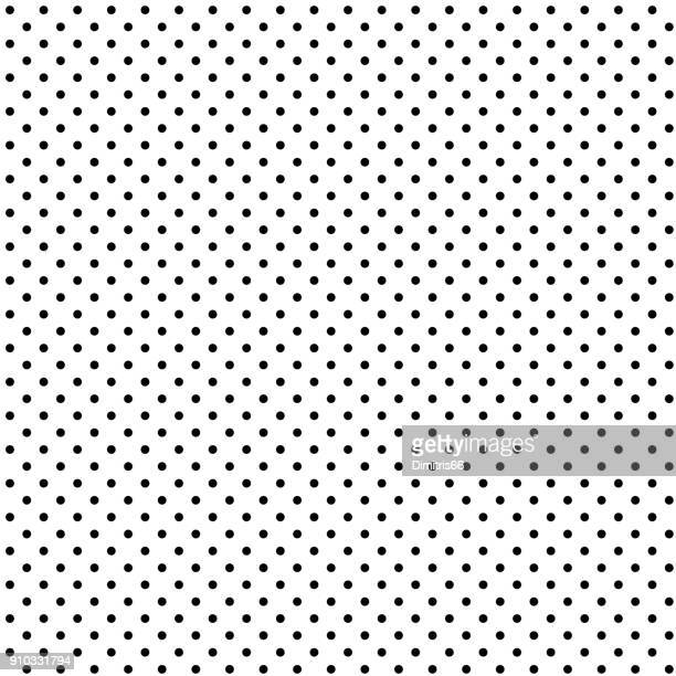 illustrazioni stock, clip art, cartoni animati e icone di tendenza di seamless black polka dot on white background - motivo ornamentale