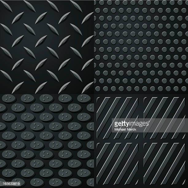 seamless black rubber surfaces - rubber stock illustrations, clip art, cartoons, & icons