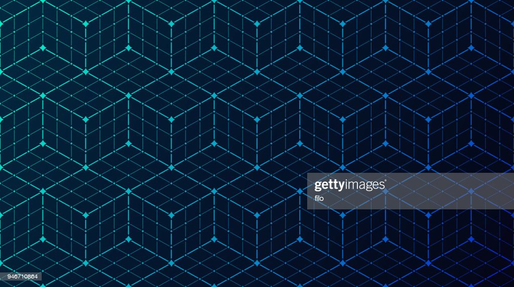 Seamless Block Data Connection Network Background : Stock Illustration