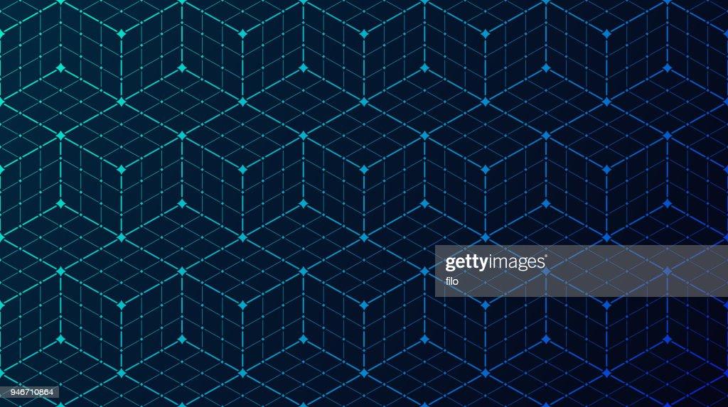 Nahtlose Block Daten Verbindung Netzwerk Hintergrund : Stock-Illustration