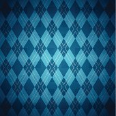Seamless Blue Argyle Pattern