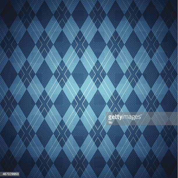 seamless blue argyle pattern - blanket texture stock illustrations, clip art, cartoons, & icons