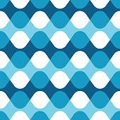 Seamless blue vibrating dot pattern