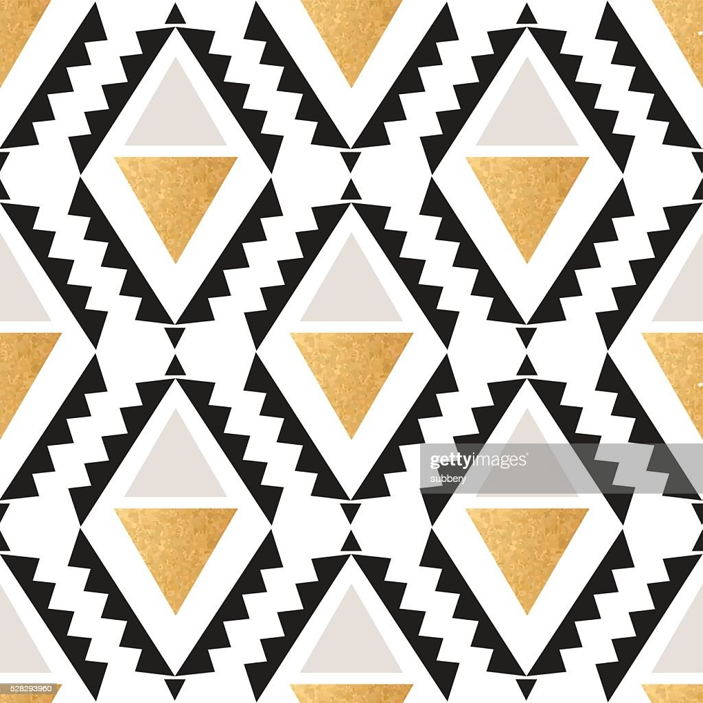 Seamless boho geometrical pattern in vector