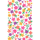 Seamless border with cute flowers