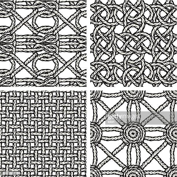 seamless braided backgrounds