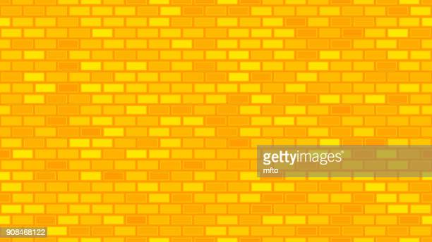 seamless brick pattern - yellow stock illustrations