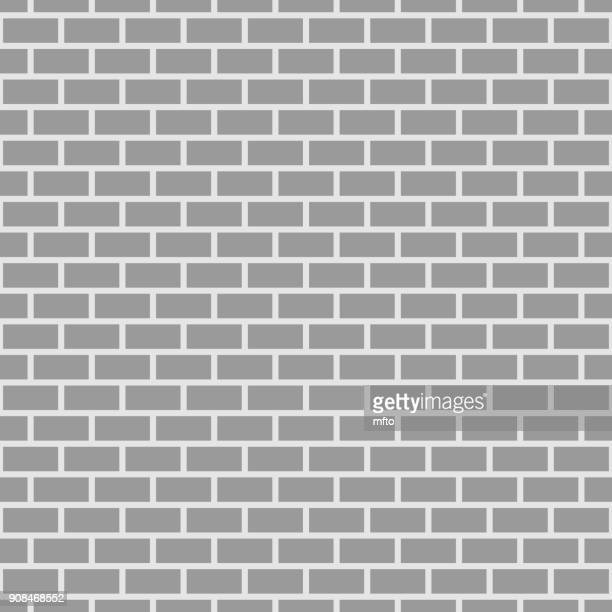 seamless brick pattern - brick stock illustrations