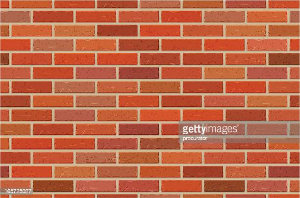 seamless brick wall pattern - brick stock illustrations