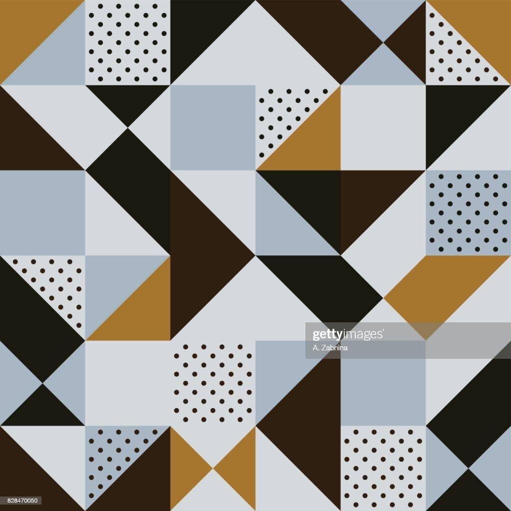seamless brown geometric pattern : stock illustration