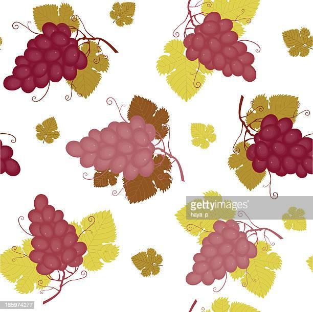 Seamless rojo ramo de uvas