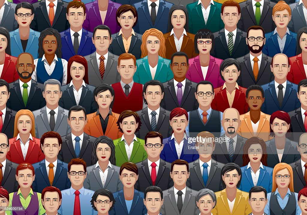 Seamless Business People Crowd : stock illustration