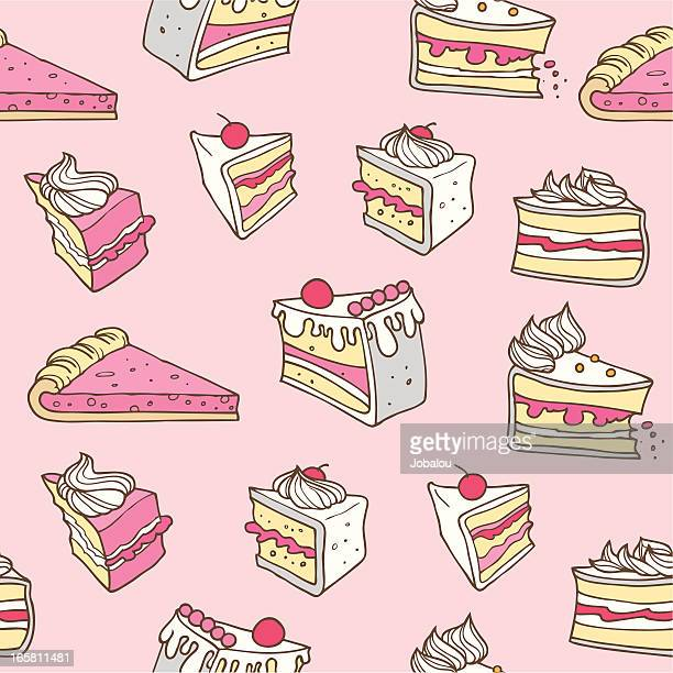 seamless cake - whipped cream stock illustrations, clip art, cartoons, & icons
