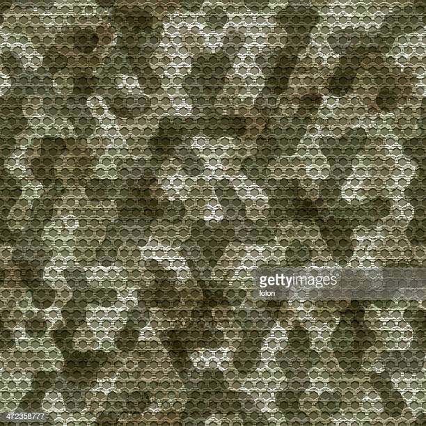 seamless camouflage grid background - camouflage stock illustrations