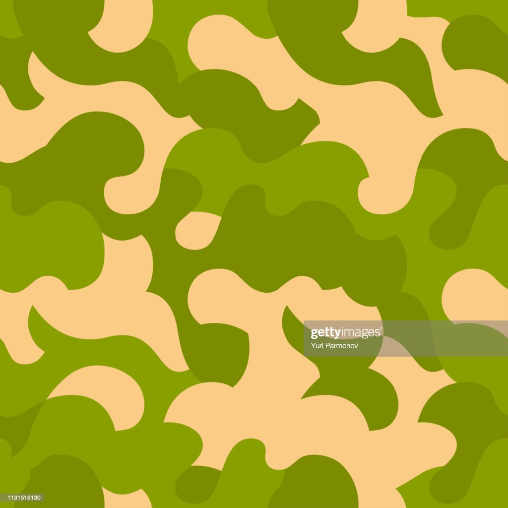 Seamless camouflage pattern. Gren texture, vector illustration. Camo print background. Abstract military style backdrop