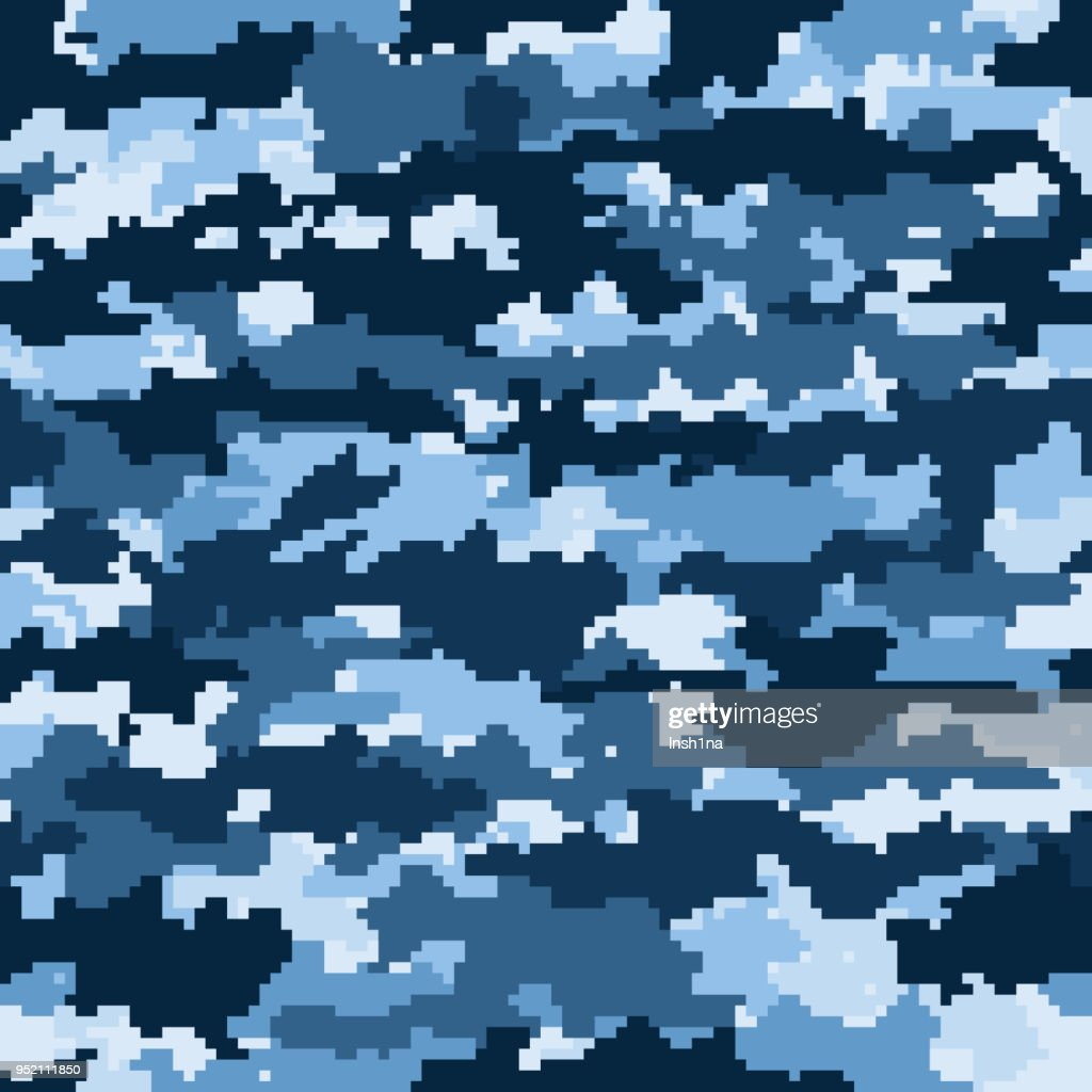 seamless camouflage pattern with pixel effect