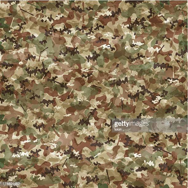 seamless camouflage wallpaper - camouflage stock illustrations