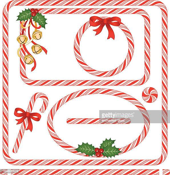 Seamless Candy Cane Frames & Borders