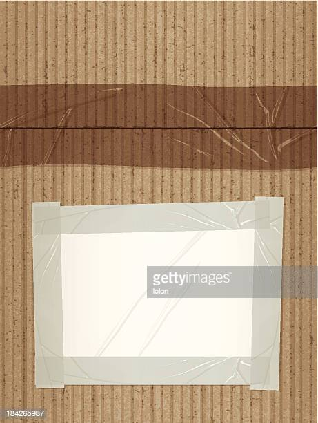 seamless cardboard with blank label tile