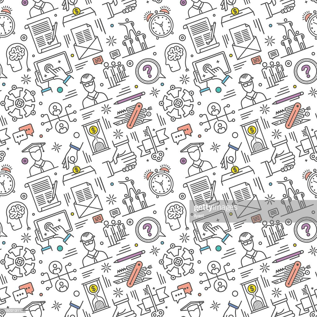 Nahtlose Karriere Muster : Stock-Illustration