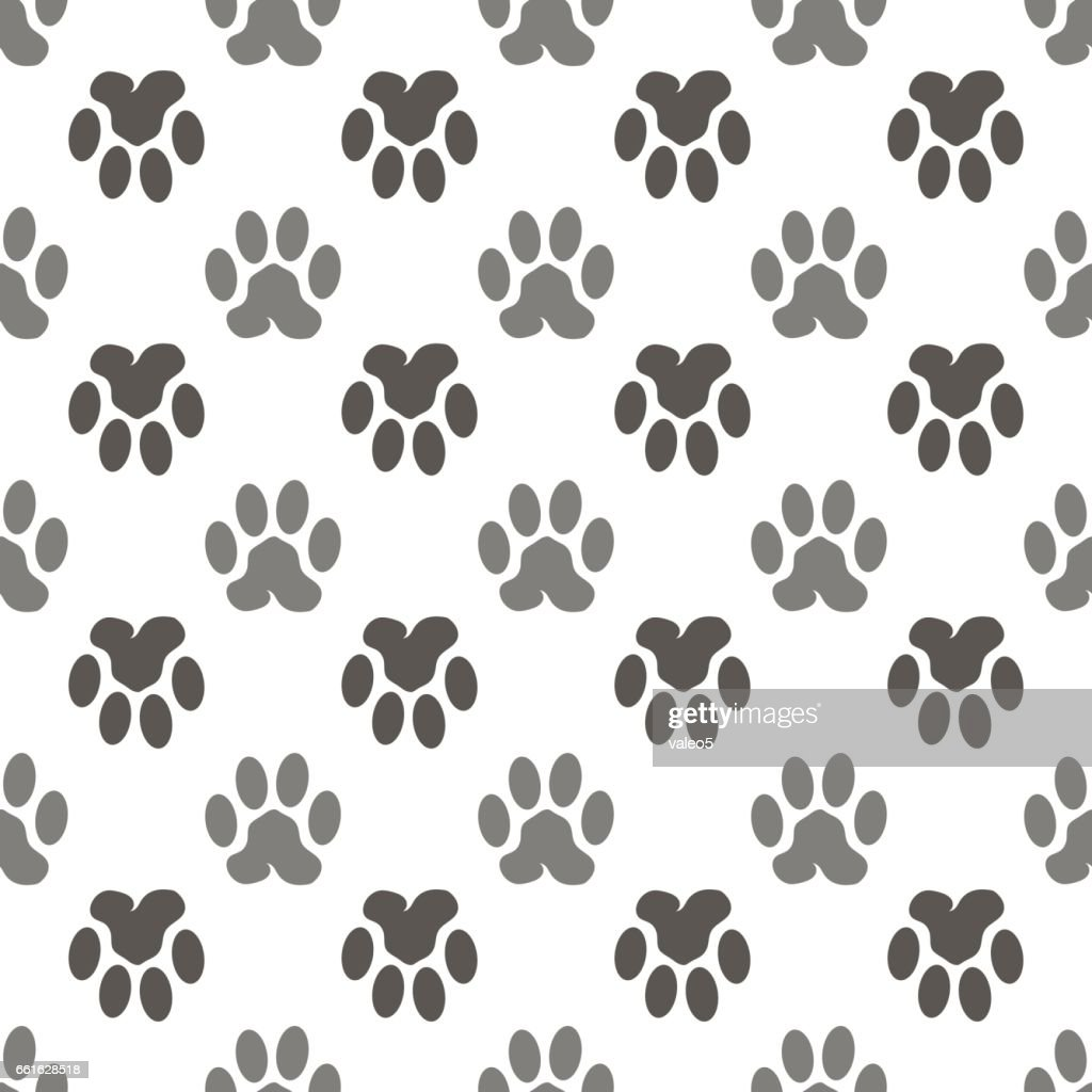 Seamless Cat Animal Paw Pattern