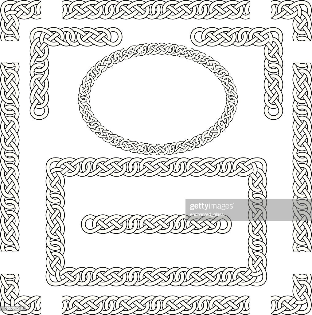 Seamless Celtic Knots, Frame, Border, Corners