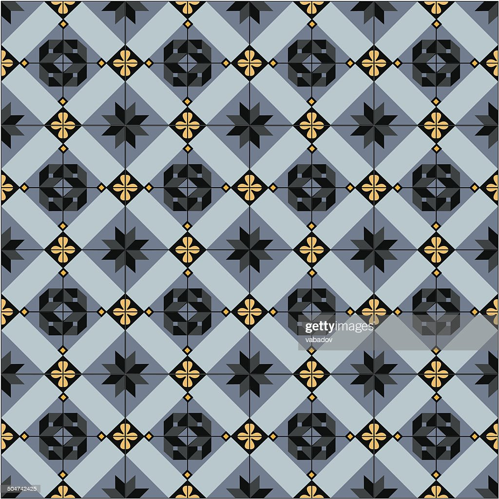 Seamless Ceramic Tiles Pattern Vector Art | Getty Images