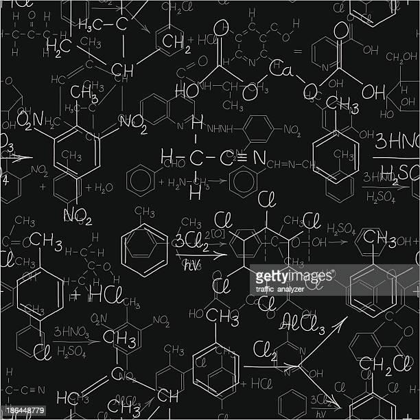 seamless chemistry background - mathematical formula stock illustrations