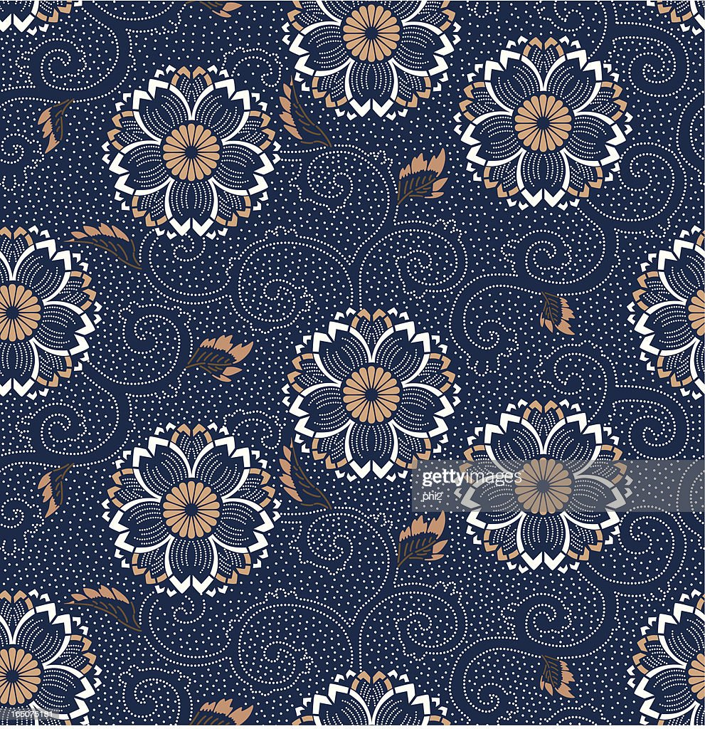 Seamless Cherry Blossom Floral Pattern Vector