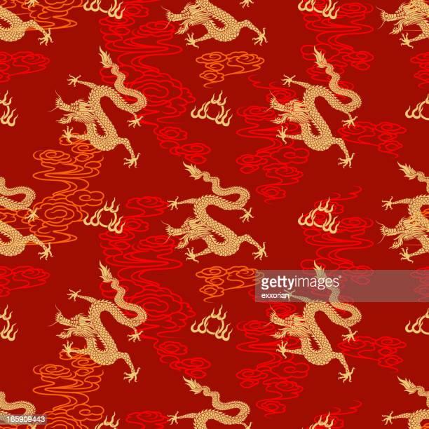 Motif de Dragon chinois sans