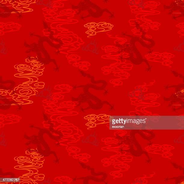 シームレスなパターン中国の竜