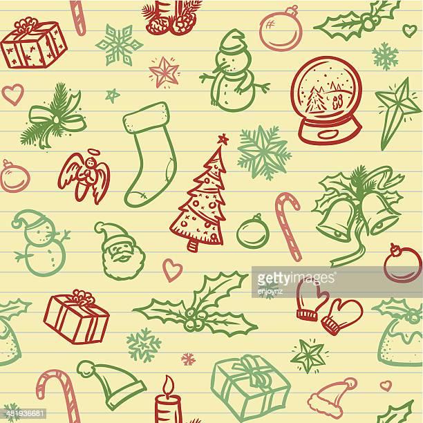 Sin costuras fondo de Navidad