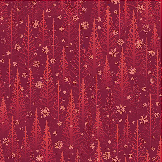 Seamless Christmas Background Wall Art