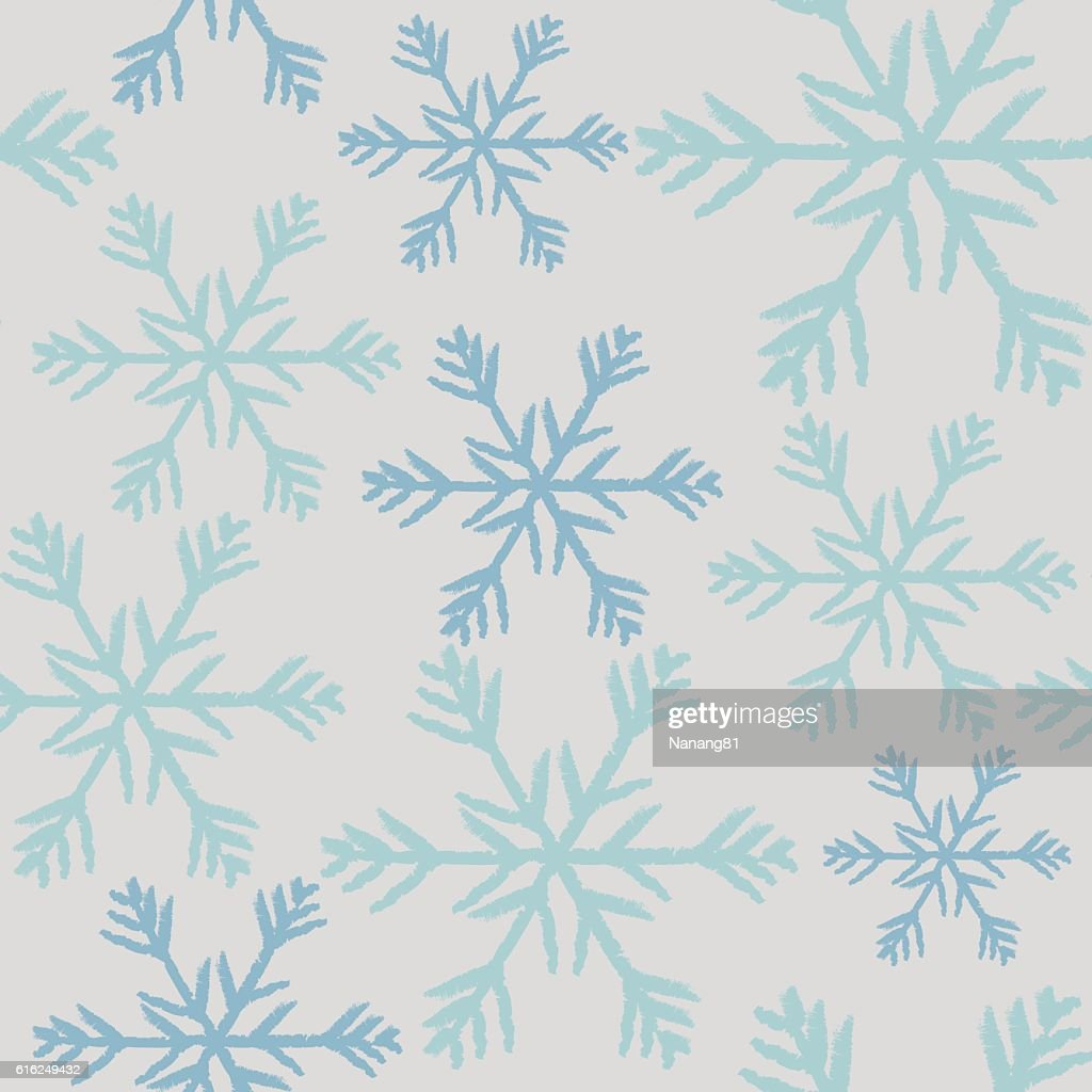 Seamless Christmas Background with Snowflakes design : Arte vectorial