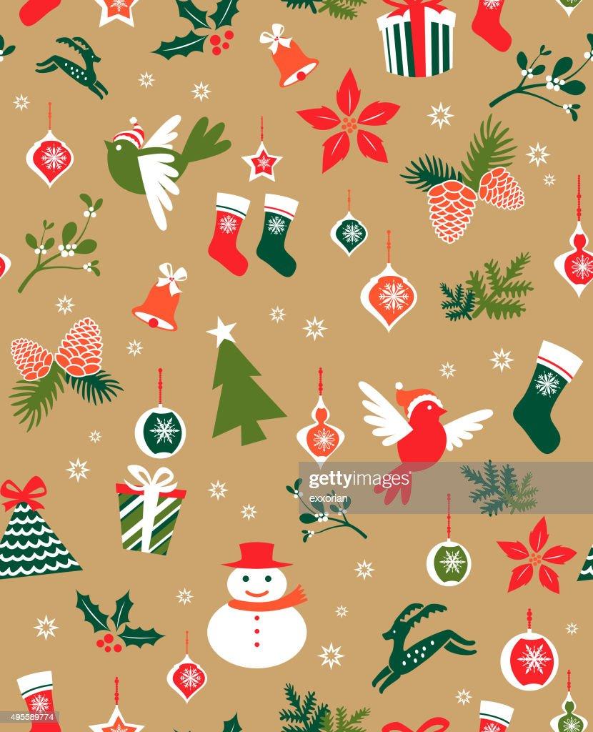 Seamless christmas elements
