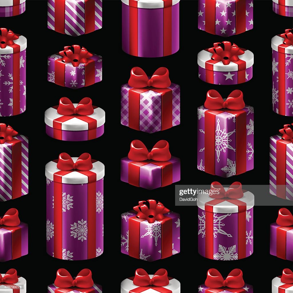 Seamless Christmas Pattern - Gifts : stock illustration