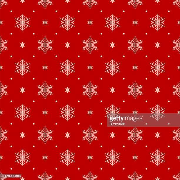 シームレスなクリスマスパターン - 雪点のイラスト素材/クリップアート素材/マンガ素材/アイコン素材