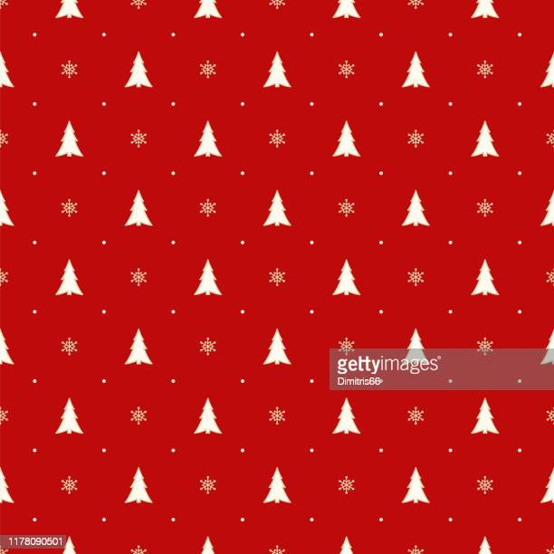 seamless christmas pattern - wrapping paper stock illustrations