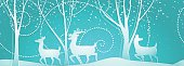 Seamless Christmas pattern with deers.