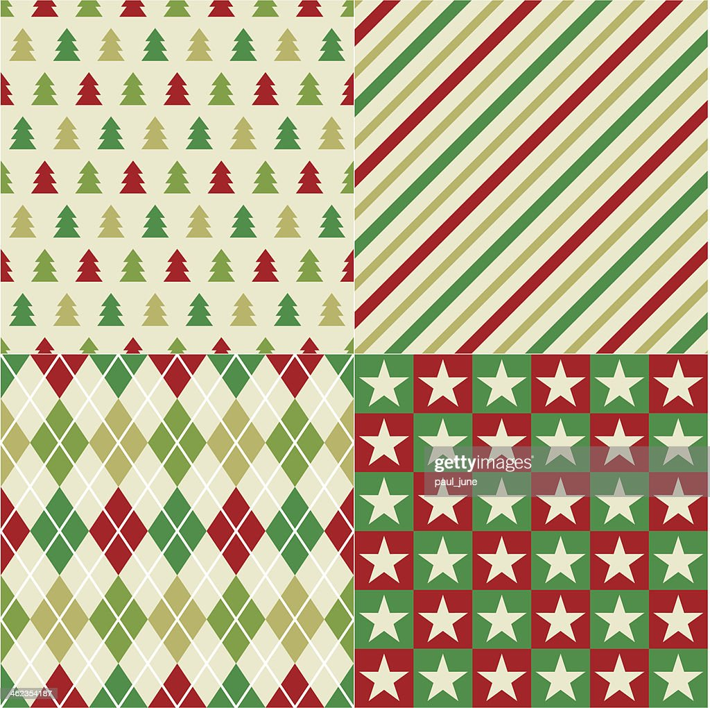 seamless christmas red and green pattern