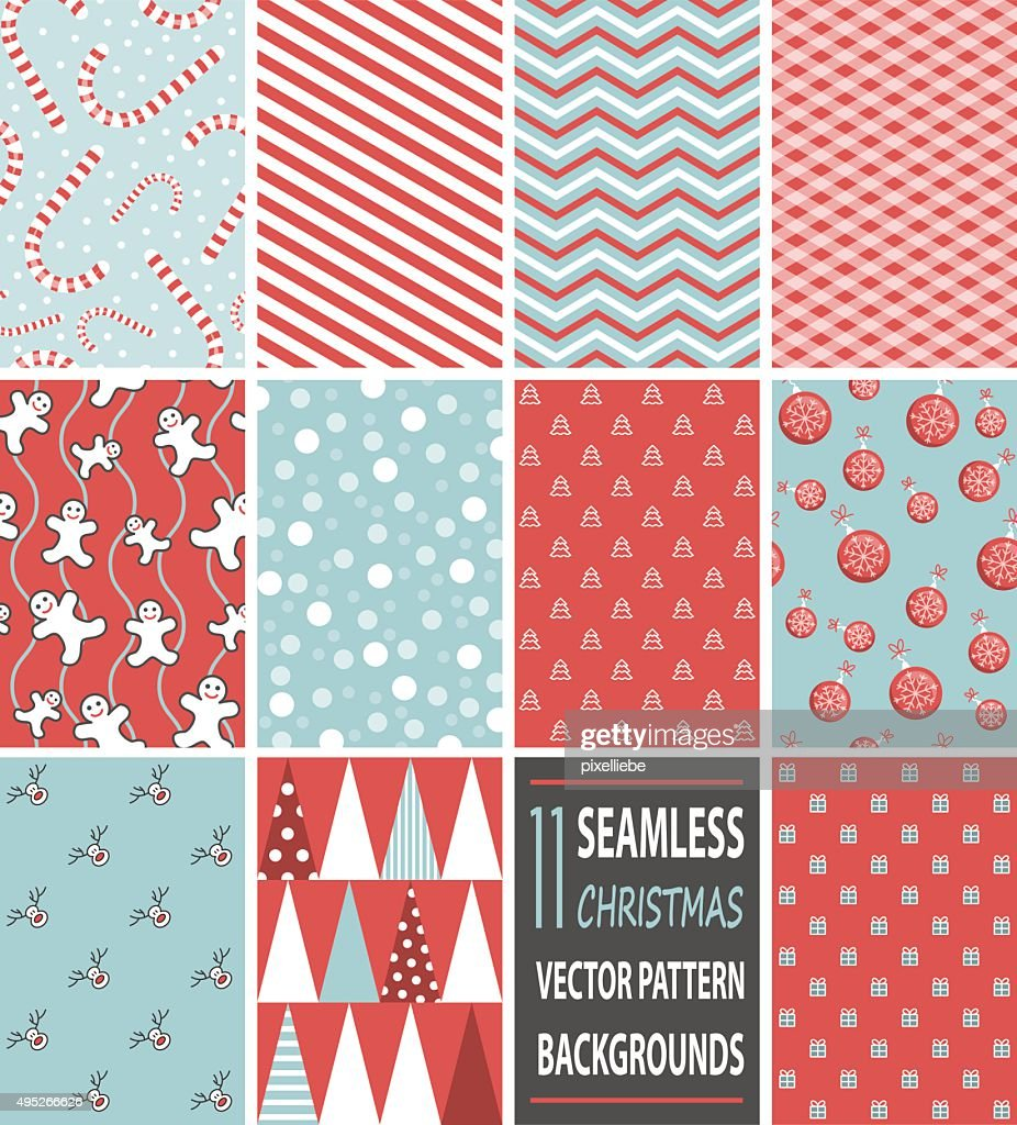 seamless christmas vector pattern backgrounds