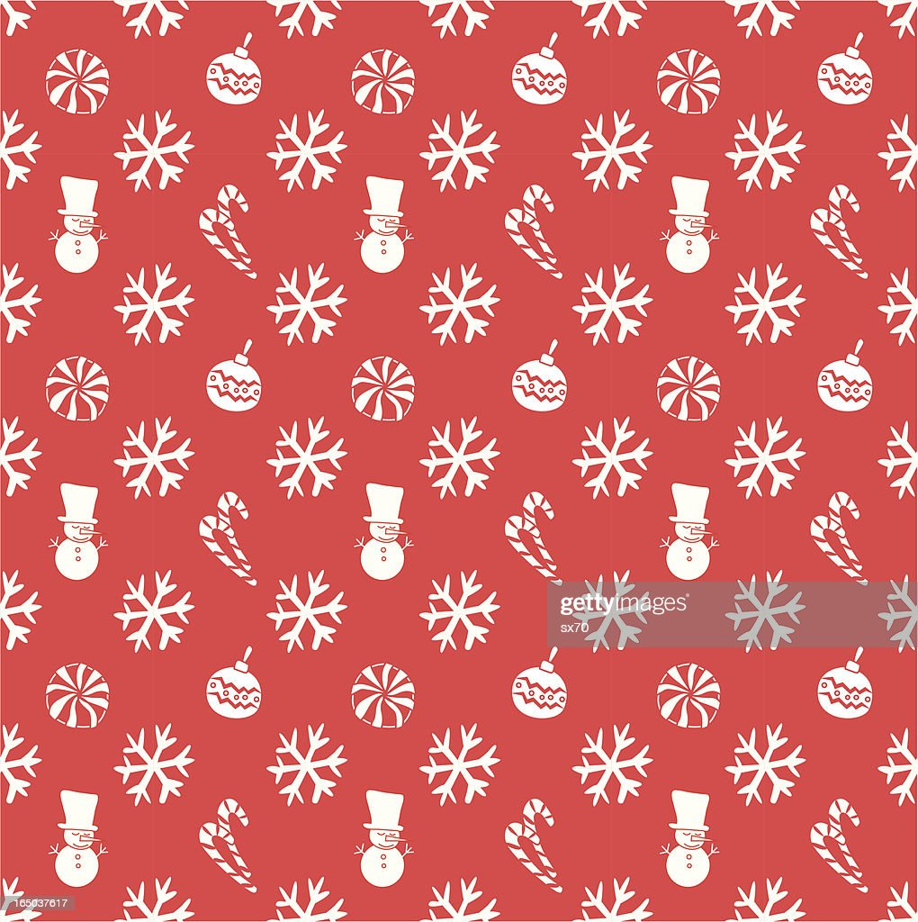 Seamless Christmas Wallpaper Background ( Vector )