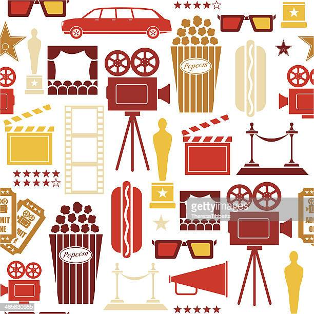 Seamless Cinema and Film Pattern