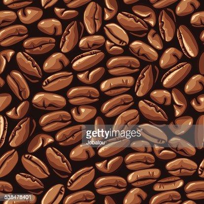 Seamless Coffee Beans Pattern