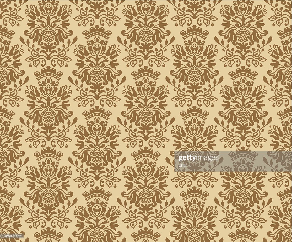 Seamless Colonial Pattern Vector