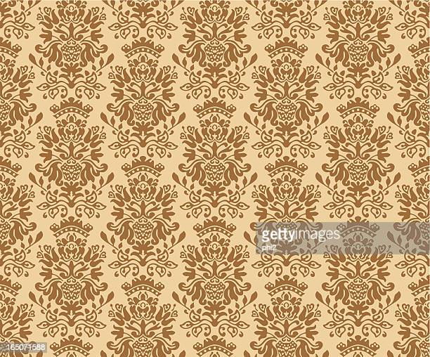 seamless colonial pattern vector - colonial style stock illustrations